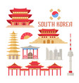 south korea showplace flat vector image vector image