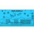 spain marbella winter holidays skyline merry vector image vector image