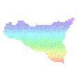 Spectrum sicilia map vector image