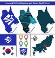 suyeong district busan city south korea vector image vector image
