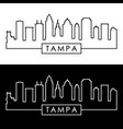 tampa skyline linear style editable file vector image vector image