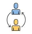 teamwork men cooperation solution arrows vector image vector image