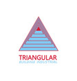 triangular building industrial logo vector image