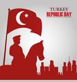 turkey republic day sculpture hero freedom vector image vector image