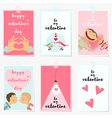 valentine posters vector image vector image
