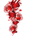 valentines background with roses vector image vector image