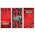 Valentines Day Sale Banner Set vector image