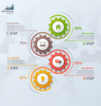 vertical timeline infographic template with gears vector image vector image