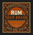 vintage liquor label for packing layered vector image vector image