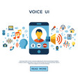 voice user interface icon set vector image vector image