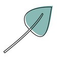 watercolor silhouette of aovada leaf plant vector image vector image