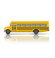 yellow school bus transportation and vehicle vector image vector image