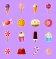 Sweets set - vector image