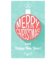 Christmas card in retro style Flat design vector image