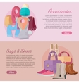 Women s bag shoes and accessories New collection vector image