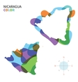 Abstract color map of Nicaragua vector image vector image