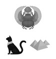 ancient egypt monochrome icons in set collection vector image vector image