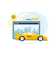application service for ordering taxi online vector image vector image