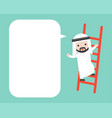 arab businessman clim on ladder and blank speech vector image vector image