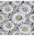 background seamless pattern of 3d flowers vector image vector image