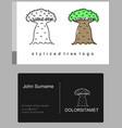 baobab tree cartoon emblem vector image vector image