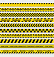 black and yellow stripes vector image vector image
