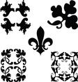 Black decorations ornaments vector image