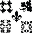 Black decorations ornaments vector image vector image