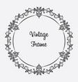 black vintage frame floral ornament vector image vector image