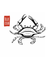 Blue Crab black and white vector image vector image