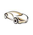 car logo design template vector image
