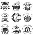 car service logos vintage labels badges vector image vector image