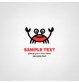 Cartoon crab icon vector image