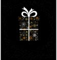Christmas decoration with gift box vector image vector image