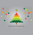 christmas tree colorful background vector image