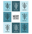 christmas tree greeting cards for your design vector image vector image