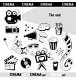 Cinema sign set vector image vector image