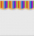 colored pencils up line in shape of wave border vector image vector image