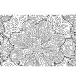 coloring book page with beautiful floral art vector image vector image