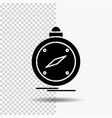 compass direction navigation gps location glyph vector image vector image