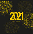 creative happy new year 2021 vector image