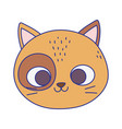 cute cat face feline cartoon animal icon vector image vector image
