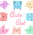 cute pretty set cat kitty vector image vector image