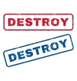 Destroy Rubber Stamps vector image vector image