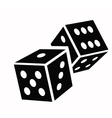 Dice cubes icon vector image