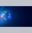 digital global technology banner with circuit vector image vector image