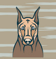 dog and card template icon design vector image