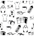 doodle seamless pattern with shopping theme vector image