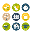 Farm flat icons set vector image vector image
