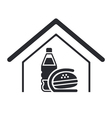 fastfood icon vector image vector image